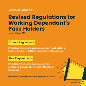 MOM Revised Regulations for Working Dependant's Pass Holders