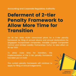 ACRA Deferment of 2-tier Penalty Framework