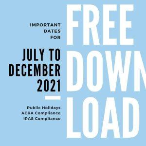 Calendar Download Jul-Dec 2021